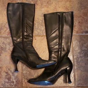 ALDO Black Leather tall boot